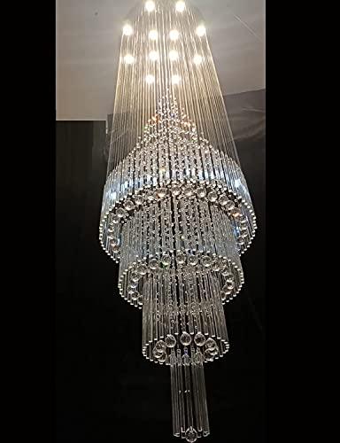 120' Hight Ceiling Chandelier Crystal Raindrop Chandeliers...