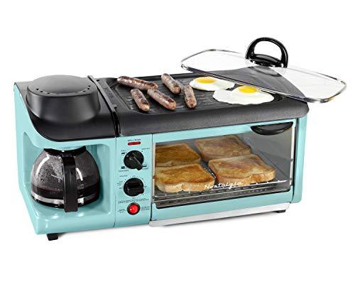Nostalgia Retro 3-in-1 Family Size Electric Breakfast...