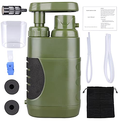 Portable Hand Pump Water Filter,100000Gallons Camping Water...