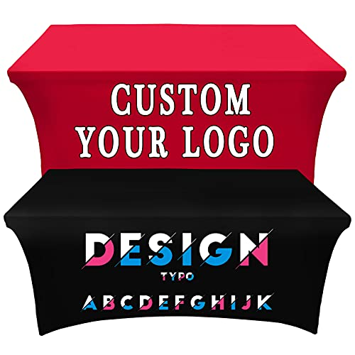Custom Table Cloth Cover with Business Logo or Your Text...