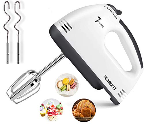 Hand Mixer Electric, Kuopry 7 Speed Hand Mixer Electric Hand...