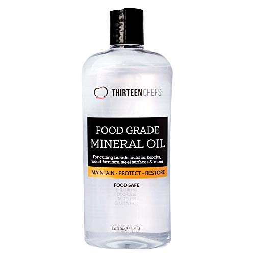 Food Grade Mineral Oil for Cutting Boards, Countertops and...