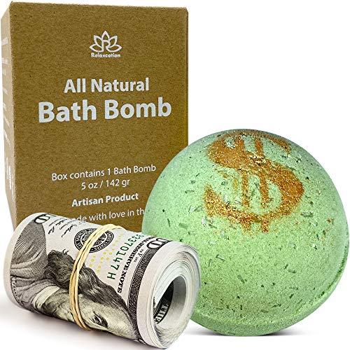 Bath Bomb 'Money Scent' with Real Money Inside Cash Money...