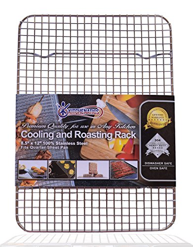 KITCHENATICS Quarter Sheet 100% Stainless Steel Roasting &...