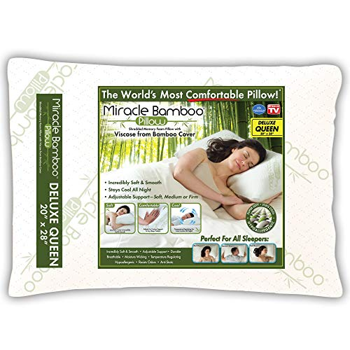 Ontel Miracle Shredded Memory Foam Pillow with Viscose from...