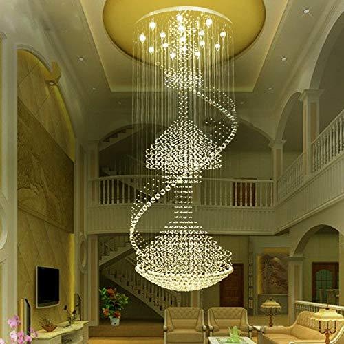 Moooni Modern Large Spiral Crystal Chandelier Lighting...
