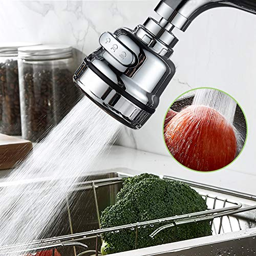 3 Modes Faucet Aerator, Movable Kitchen Tap Head 360°...