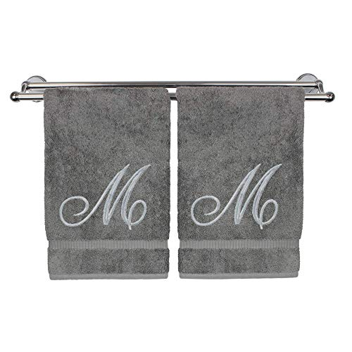 Monogrammed Hand Towel, Personalized Gift, 16 x 30 Inches -...