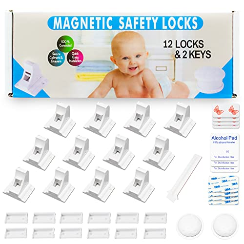 Eco-Baby Child Safety Magnetic Cabinet and Drawer Locks for...