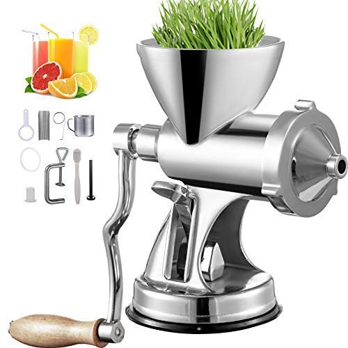 VEVOR Manual Wheatgrass Juicer with Suction Cup Base &...