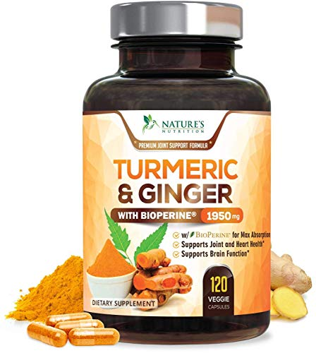 Turmeric Curcumin with BioPerine & Ginger 95% Curcuminoids...