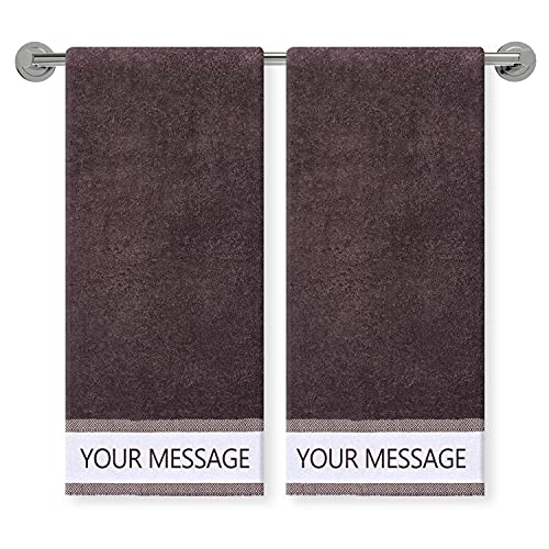 COLORCOMMALL Personalized Custom Hand Towel – 2 Pack 16x32...