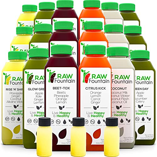 7 Day Juice Cleanse by Raw Fountain, All Natural Raw, Cold...