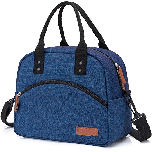 Insulated Lunch Box Bag with Detachable Shoulder Strap &...