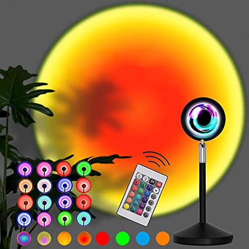 Sunset Lamp, 16 Colors Sunset Projection Lamp with Remote,...