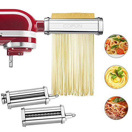 Pasta Maker Attachment for Kitchenaid Stand Mixer, 3 Piece...