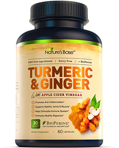 Turmeric Curcumin with Ginger & Apple Cider Vinegar,...