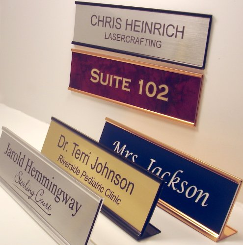 Personalized Office Name Plate With Wall or Desk Holder -...