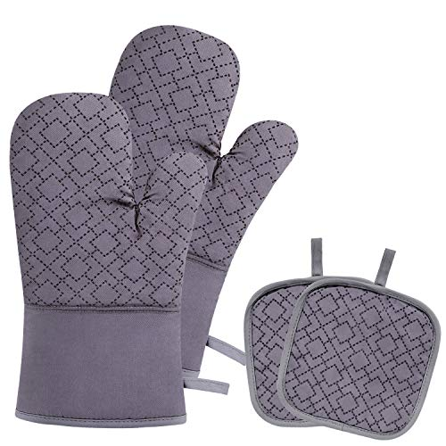 Blisstime Oven Mitts and Pot Holders 4pcs Set,Extra Long...