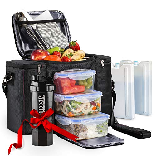 Meal Prep Lunch Bag / Box For Men, Women + 3 Large Food...