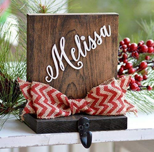 Personalized Christmas Stocking Holder for Mantle or...