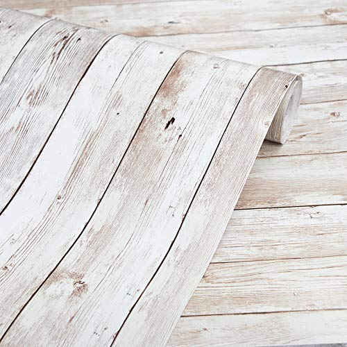 Wood Wallpaper 17.71' X 118' Self-Adhesive Removable Wood...