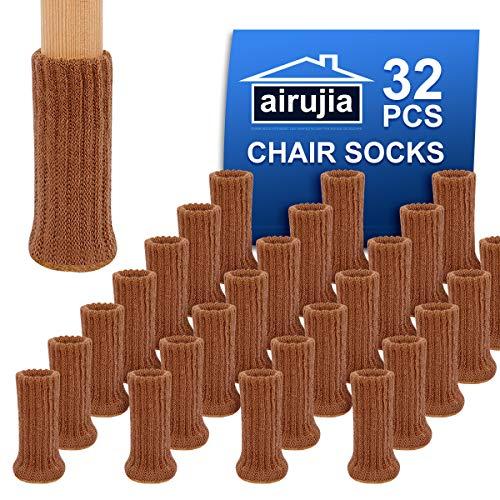 32PCS AIRUJIA Chair Leg Socks, Knitted Elastic Furniture...