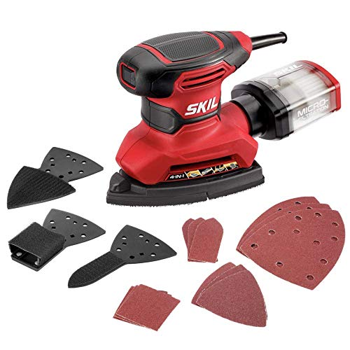 SKIL Corded Multi-Function Detail Sander with Micro-Filter...