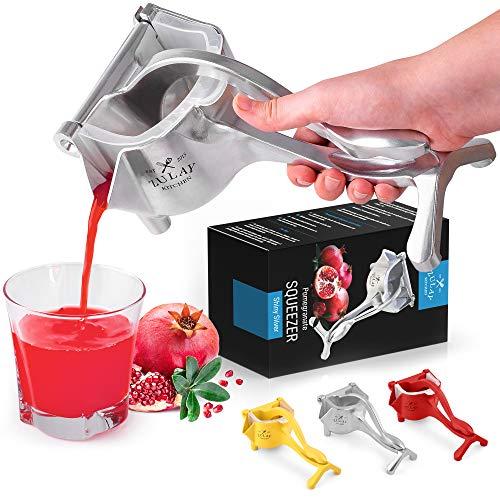 Zulay Fruit Manual Juicer- Heavy Duty Juice Press Squeezer...