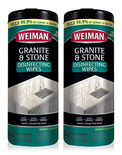 Weiman Granite Disinfectant Wipes - 30 Wipes - 2 Pack -...