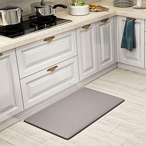 SHANJE Kitchen Mats for Floor,18'x30'Plaid Texture Anti...