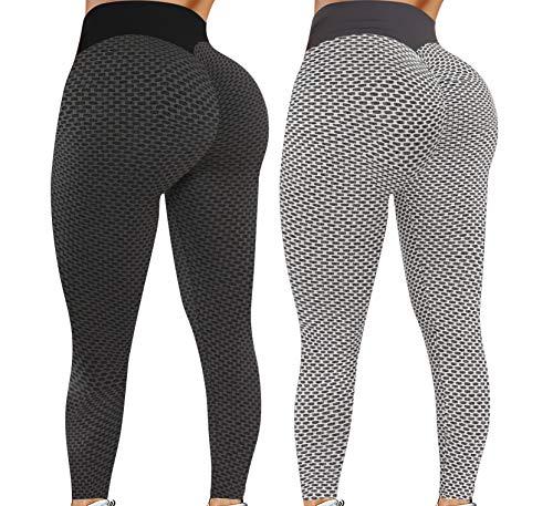 Leggings for Women Butt Lift - 2 Pack High Waist Yoga Pants...