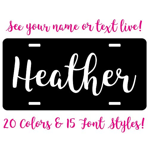 Simply Customized Personalized License Plate Black White...