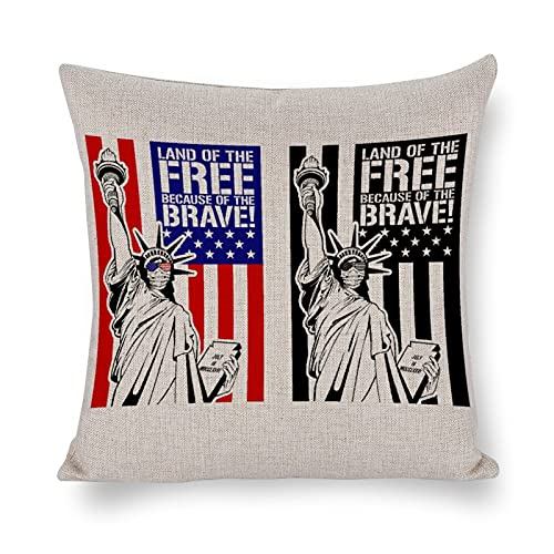 Throw Pillow Covers Land of The Free Because of The Brave,...
