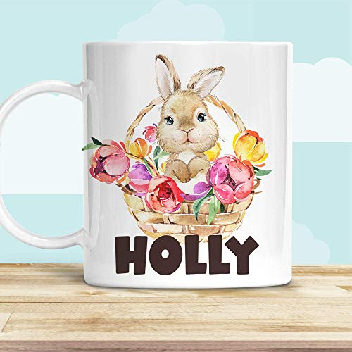 Kids Easter Bunny in Basket Cup, Customized with Child's...