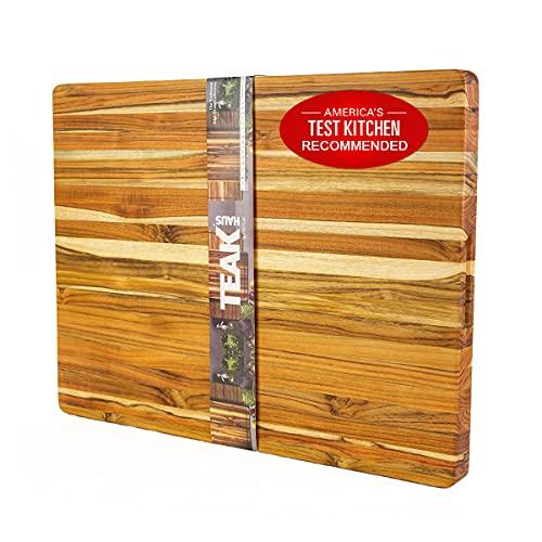 TEAKHAUS Wood Cutting Board Block I Chopping Board I Wooden...