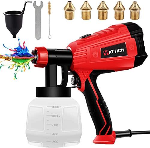 YATTICH Paint Sprayer, High Power HVLP Spray Gun, with 5...