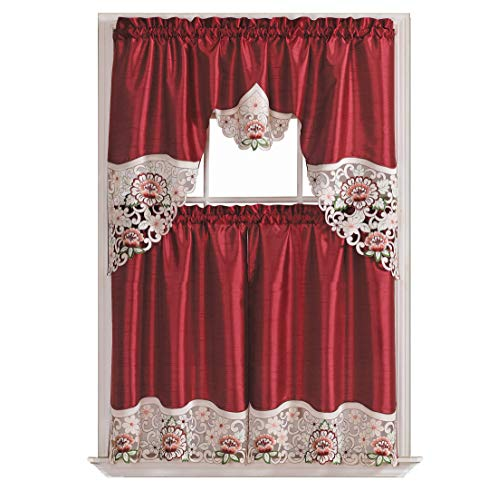 Summer Passion Kitchen Cafe Curtain Set Swag Valance and...