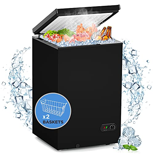 WATOOR 3.5 Cu.ft Chest Freezer Small Deep Freezer Mini...
