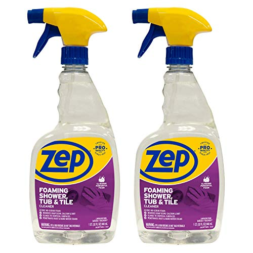 Zep Foaming Shower Tub and Tile Cleaner 32 ounce ZUPFTT32...