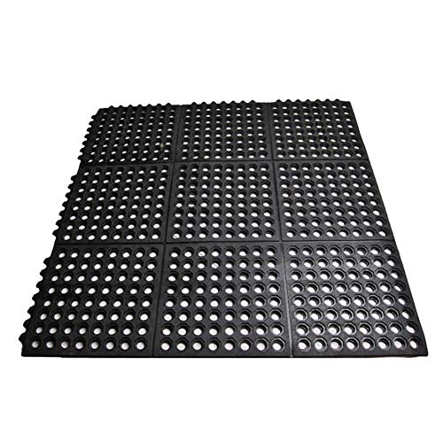 smabee Anti-Fatigue Non-Slip Interlocking Rubber Floor Mat...