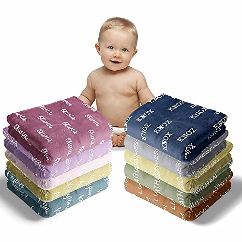 Personalized Baby Blankets for Girls with Name - Baby...