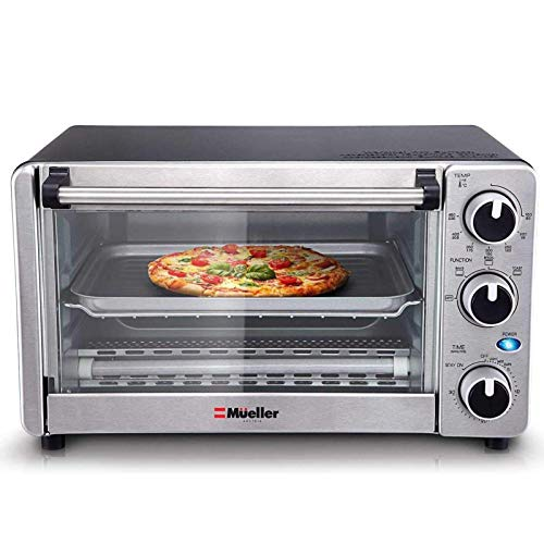 Toaster Oven 4 Slice, Multi-function Stainless Steel Finish...