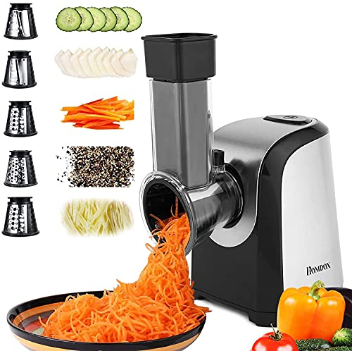 Homdox Electric Cheese Grater, Professional Salad Shooter...