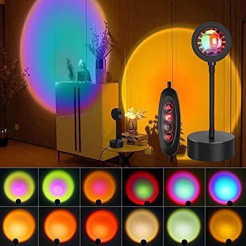 Sunset Lamp - 12 Colors Sunset Light Projector Lamp Sun Lamp...