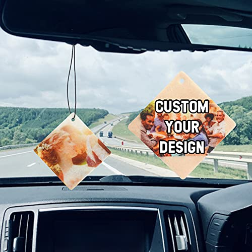 Custom Car Air Freshener with Photo/Text/Logo, Personalized...