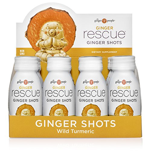 The Ginger People Ginger Rescue Ginger Shots, Wild Turmeric...