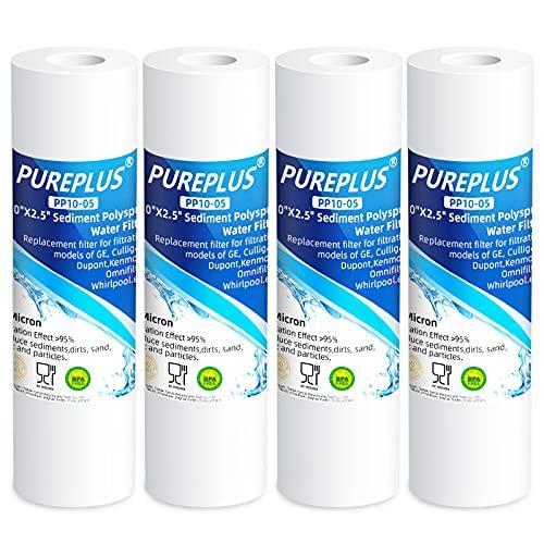 PUREPLUS 5 Micron 10' x 2.5' Whole House Sediment Home Water...
