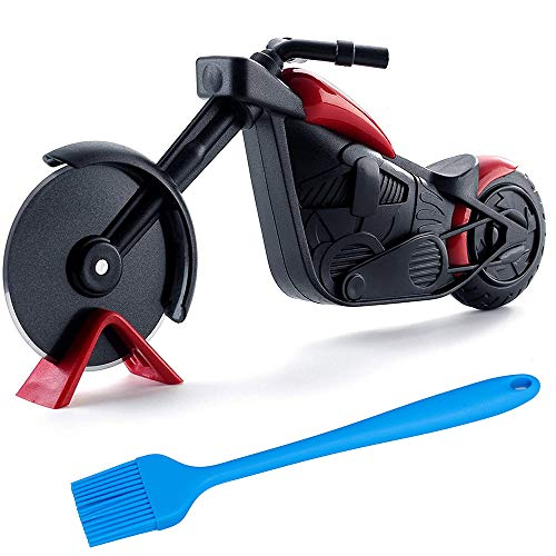 Pizza Cutter Wheel,Stainless Steel Pizza Slicer Motorcycle...