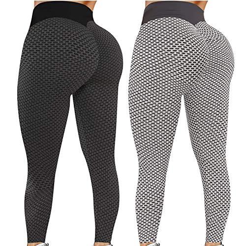 Houshelp 2 Pack Tiktok Leggings High Waist Yoga Pants for...